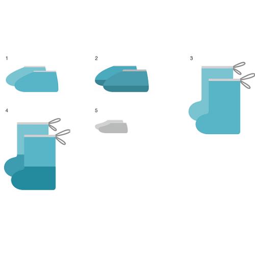 Комплект одежды и белья хирургический, одноразовый, стерильный и нестерильный КХ «ГЕКСА» по ТУ 9398-020-18603495-2009 Состав: Бахилы высокие (на завязках, р-р 39-41, спанбонд пл.42 г/м2, голубой) (авт) - 15 пар/упак Нестерильно