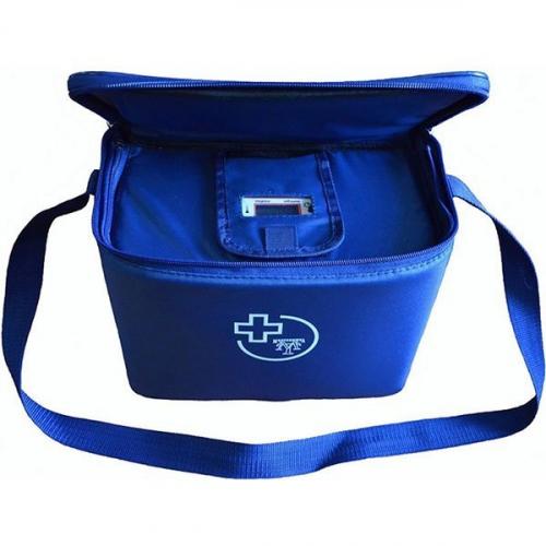Сумка – холодильник для перевозки биологических материалов с охлаждающими элементами и электронным индикатором,4 л
