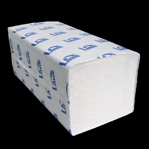 Бумажные полотенца LIME Z-сложение, листовые, 1-сл., белые, 250 листов