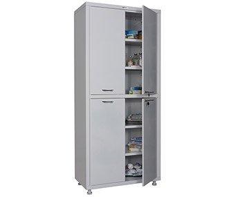 Шкаф двустворчатый для медикаментов и инструментов, двери - металл 1750/1850*x800x400 HILFE МД 2 1780/SS