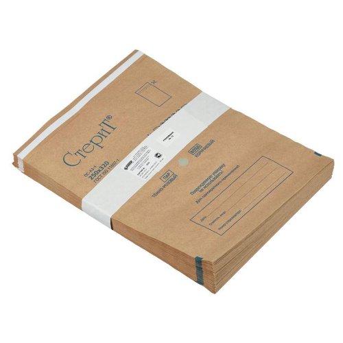 Крафт-пакет с индикатором коричневый, 250*320 мм, 100 шт.