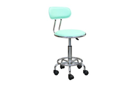 Кресло лабораторное с кольцом-опорой для ног на колесных опорах НС-303