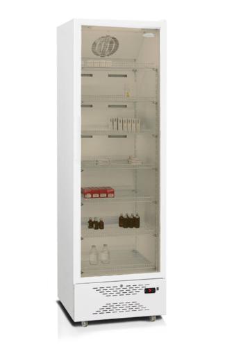Фармацевтический шкаф-витрина со стеклянной дверью Бирюса 350