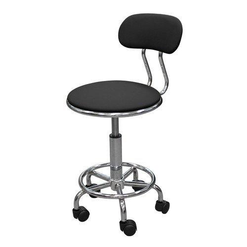 Кресло лабораторное КР04, кольцо-опора для ног, колеса, спинка