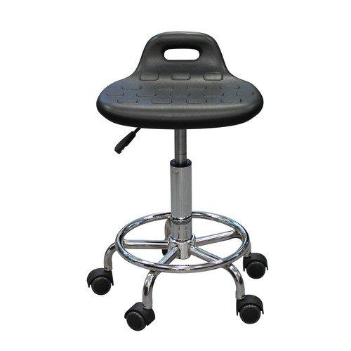Табурет лабораторный Т06, кольцо-опора для ног, колеса, полиуретан