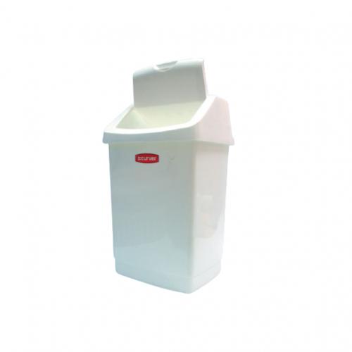 Бак белый с плавающей крышкой для отходов класса А, 25 л