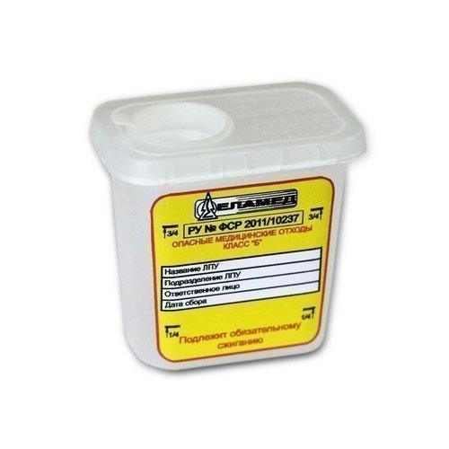 Ёмкость для сбора колюще-режущих медицинский отходов одноразовая ЕСО-02 (0,1 л)