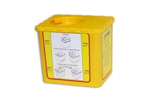 Ёмкость для сбора колюще-режущих медицинский отходов одноразовая ЕСО-02 (0,5 л)