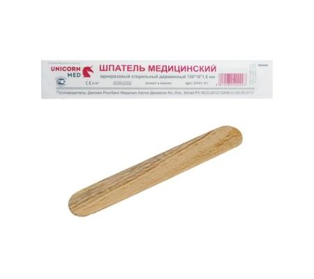 Шпатель деревянный стерильный 150х18 (упаковка 100 шт)
