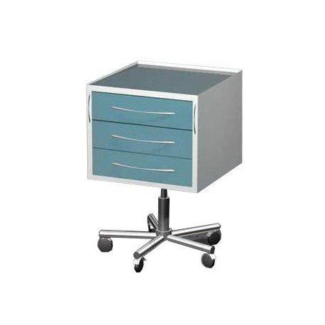 Столик передвижной, материал: металл в полимере, 3-выдвижных ящика с регулировкой высоты, 5 колес, 500*500*850