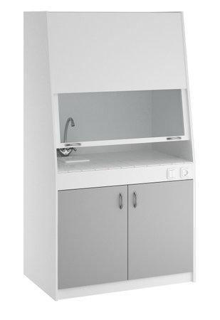 Набор мебели медицинской для клинико-диагностических лабораторий по ТУ 9452-001-68690950-2011: Шкаф лабораторный вытяжной ШВ.02.00