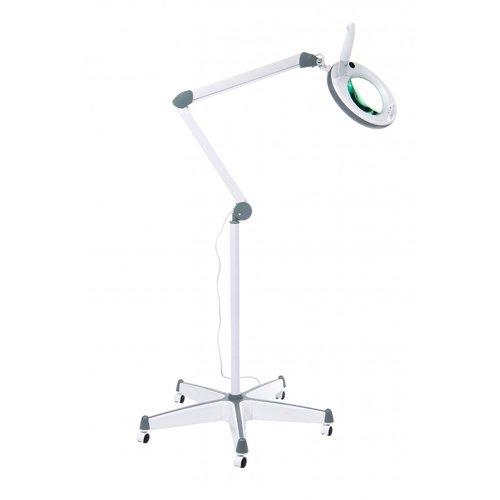 АтисМед ЛЛ-3 Лампа бестеневая с увеличительной лупой с регулируемой интенсивностью освещения, со стойкой на колесиках для напольного  расположения