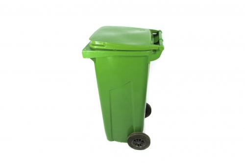 Бак на колесах зеленый для отходов класса А, 120 л