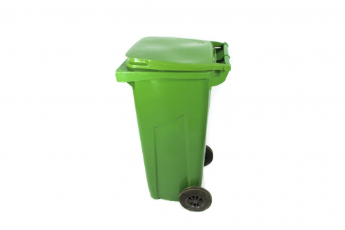 Бак зеленый на колесах для отходов класса А, 120 л