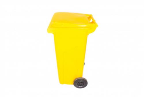 Бак желтый с крышкой для отходов класса Б, 120 л