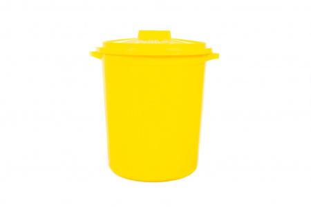 Бак желтый с крышкой для отходов класса Б, 20 л