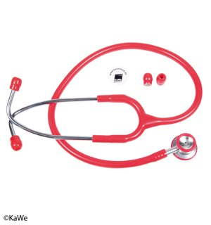 KaWe Бэби-Престиж Лайт (неонатальный) из алюминия красный стетоскоп