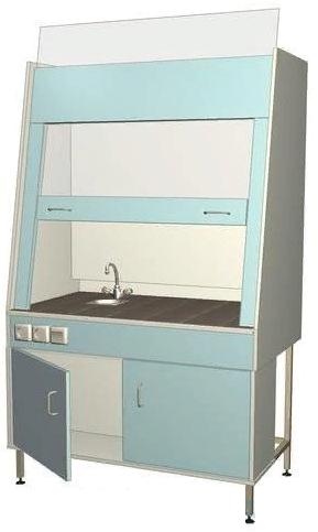 Шкаф вытяжной лабораторный с сантехникой 1110*700*1960