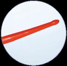 Буж уретральный, прямой гибкий, оливообразный наконечник, длина 34см., материал Neoplex 18 Fr