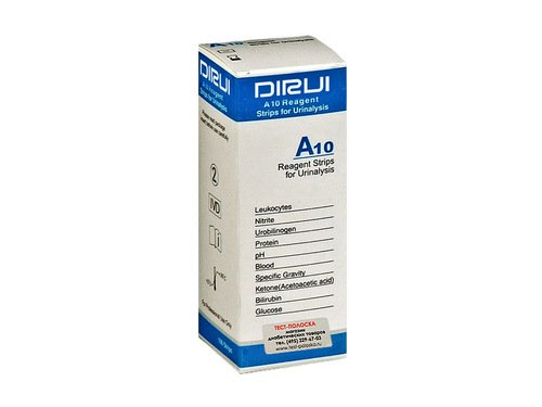 Тест-полоски к анализатору мочи Dirui (Дируи) А10 (Н-50/100/300/800)