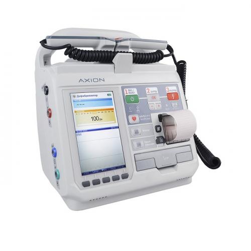 Дефибриллятор-монитор ДКИ-Н-11 Аксион с ЭКГ минимальная комплектация с функцией автомата (дефибрилятор+ЭКГ+слот для каты памяти)