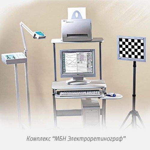 Электроретинограф для вызв. потенц. сетчатки глаза и коры гол. мозга