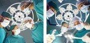 Эмалед 500 - однокупольный потолочный операционный светильник