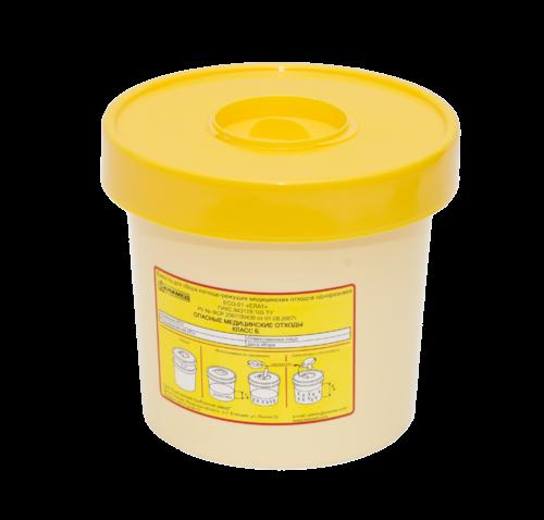 Ёмкость для сбора колюще-режущих медицинский отходов одноразовая ЕСО-01 (1 л)