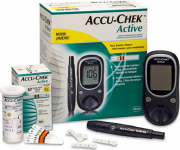 Глюкометр Accu Chek Active, тест-полоски 10 шт., ланцеты 10 шт.