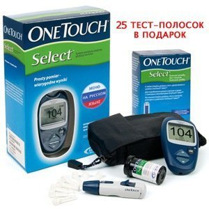 Глюкометр One Touch Select +, тест-полоски 10 шт.