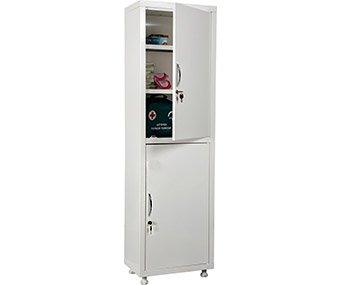 Шкаф одностворчатый для медикаментов и инструментов, двери - металл HILFE МД 1 1650/SS