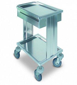 Инструментальный медицинский стол и тележка