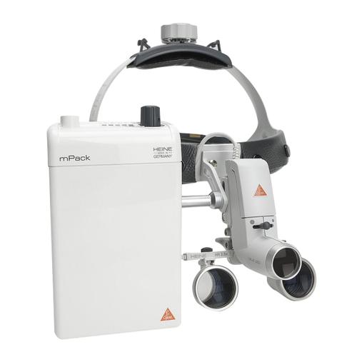 Осветитель медицинский налобный ML4 LED в комплекте с бинокулярной лупой HR 2,5 х/340 мм и защитным щитком S-Guard