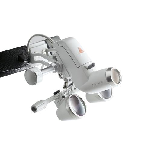 Налобный осветитель Heine ML 4 LED UNPLUGGED с бинокулярной лупой HR 2,5 х/340 мм и защитным щитком S-Guard