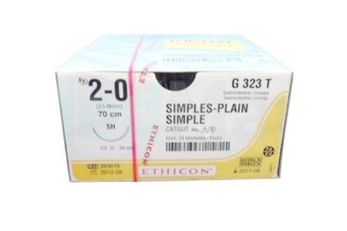 Кетгут (Catgut) 2-0, 75 см. кол. 25 мм. 1/2, производства Ethicon