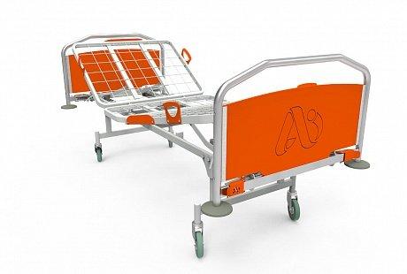 Кровать медицинская КФ-3 для лежачих больных, трехсекц., спинки ЛДСП