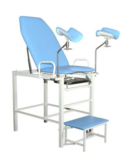 Кресло гинекологическое-урологическое «Клер» с фиксированной высотой модель КГФВ 01в с встроенной ступенькой