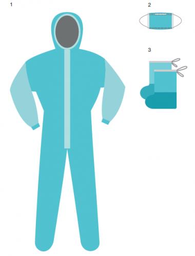Комплект одежды хирургический, одноразовый, нестерильный ГЕКСА КХ-87