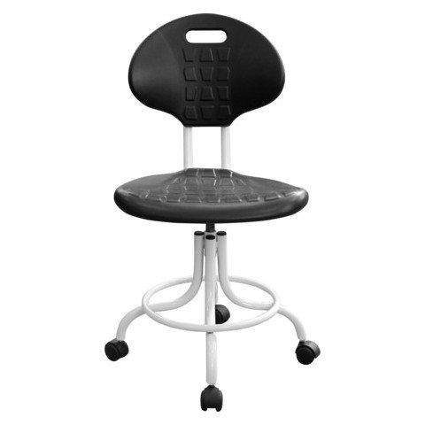 Кресло лабораторное КР10-1, кольцо-опора для ног, колеса, спинка