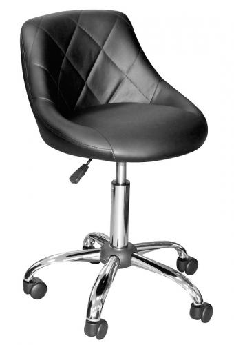 Кресло лаболоторное КР07, колеса, спинка