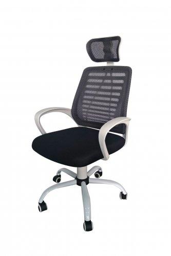 Кресло с сетчатой спинкой и подголовником КР21