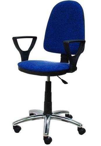 Кресло рабочее (подъемно-поворотное), 470*400*820-950 мм (цвет - синий)