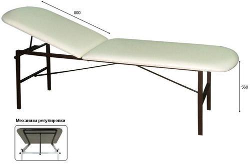 Кушетка М111-038, DPCV, металлик, регулировка подголовника, держатель для полотенец