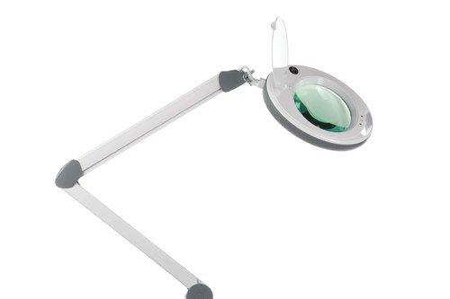 АтисМед ЛЛ-5 Лампа бестеневая с увеличительной лупой с регулируемой интенсивностью освещения на струбцине