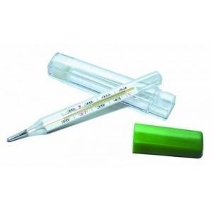 Термометр медицинский максимальный стеклянный, в пласт. футляре