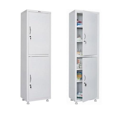 HILFE МД 1 1657/SS двери — металл, шкаф для медикаментов и инстр.