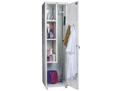 Шкаф для уборочного инвентаря HILFE МД 1 ШМ-SS (11-50)