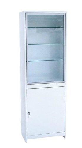 Шкаф медицинский  металлический для медикаментов, стекло/металл, все секции запираются на замок