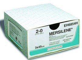 Мерсилен (Mersilene) 1, катушка 250 см, зеленый, без иглы, производства Ethicon