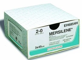 Мерсилен (Mersilene), лента 5мм.х40см. белая кол. масс. 48мм.х2, производства Ethicon